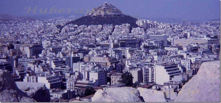 sj-Grèce Athènes Mont Lycabette vu dep.Acropole 08.07.78-